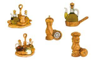 Ölständer und Salzgefäße